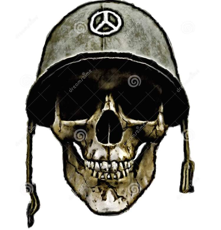 Perfect Army Helmet Dead Soldier Tattoo Design For Boys