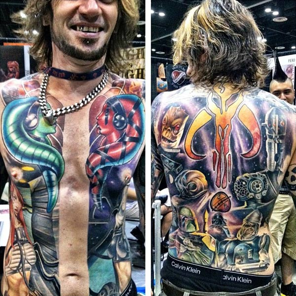 Perfect Star Wars Full Body Tattoo Design For Boys