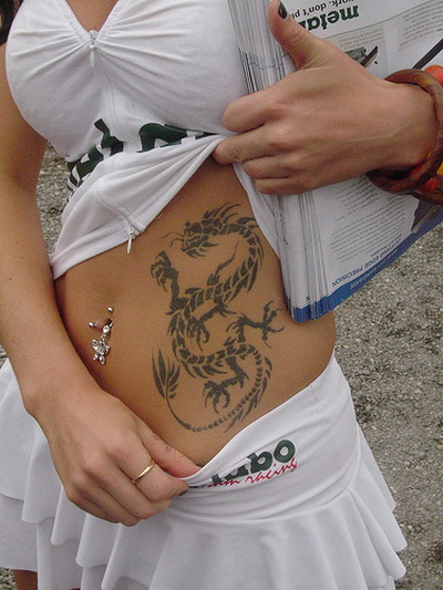Popular Chinese Dragon Tattoo For Women