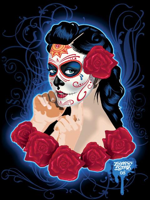 Popular Dia De Los Muertos Tattoo For Girls