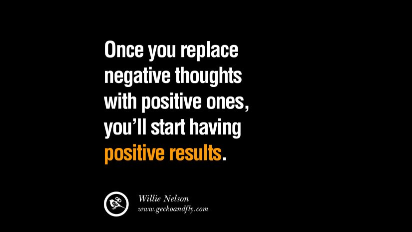 Positive Sayings Once You replace negative thoughts with positive thoughts with Positive Ones You'll start having Positive results