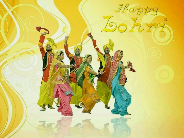 Punjabi Culture Festival Celebration Happy Lohri Wishes Image