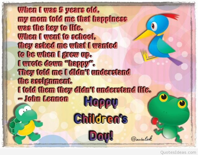 Quotes On Happy Children's Day
