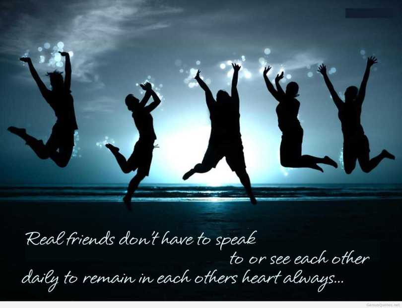 Real Friends Don't Have To Speak Happy Friendship Day
