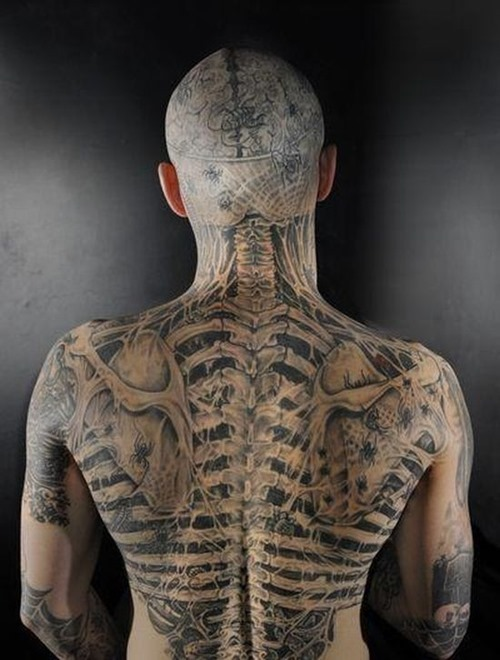 Realistic Full Body Tattoo Design For Boys