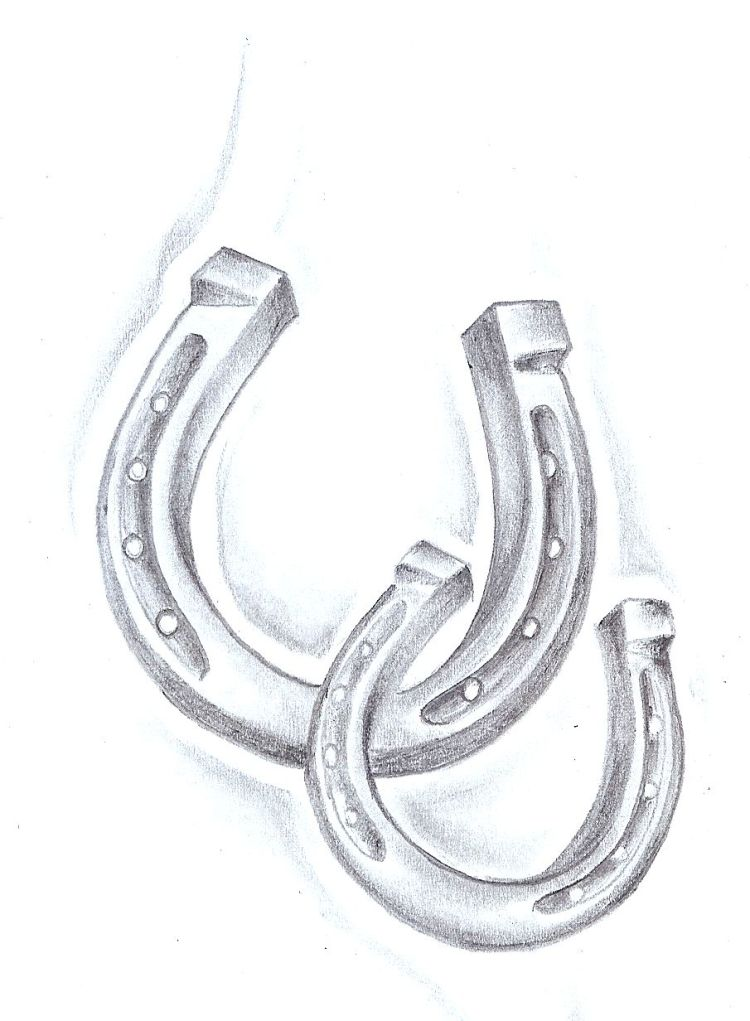 Realistic Simple Horseshoe Tattoo Design For Women