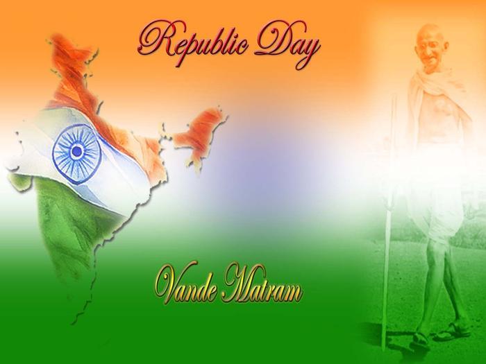 Republic Day Vande Mataram Wishes Wallpaper