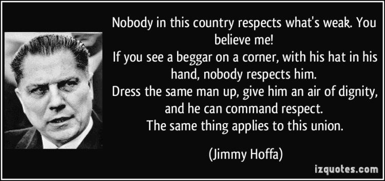 Respect Quotes nobody in this country in this country respects what's weak