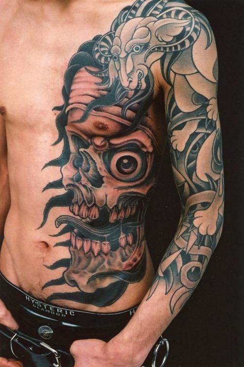 Sensation Genko Horror Tattoo Design For Boys