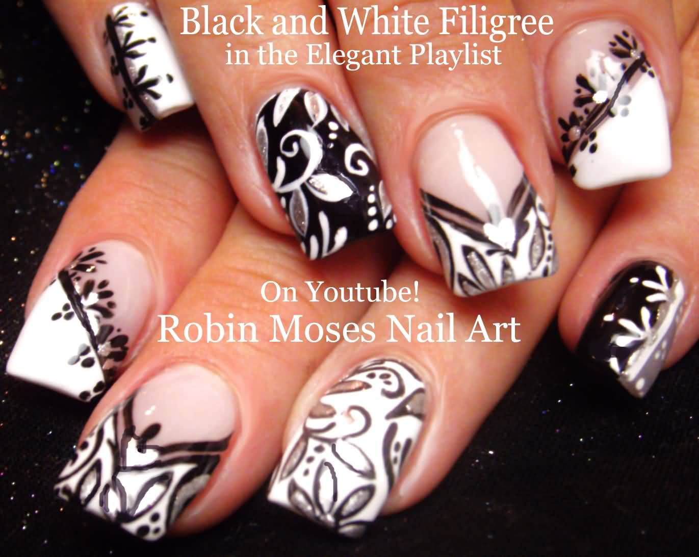2017 01 nail art designs youtube - Most Awesome Zebra Design Black And White Nail Arts