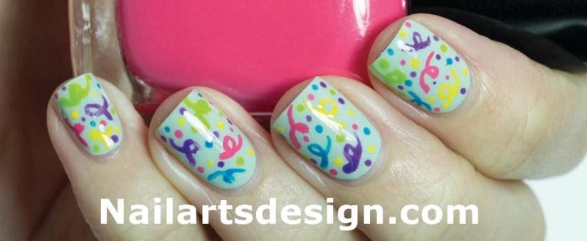 Stunning Colorful Blasts Birthday Nails