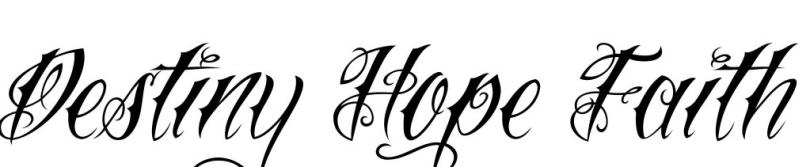 Stunning Destiny Hope Faith Tattoo Design For Girls