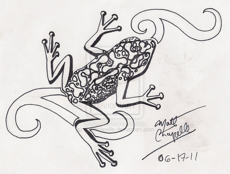 Stunning Trippy Frog Tattoo Sketch For Tattoo Fans