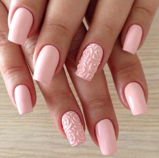 Superb flower design with pink color 3d rose flower nail art superb flower design with pink color 3d rose flower nail art prinsesfo Gallery