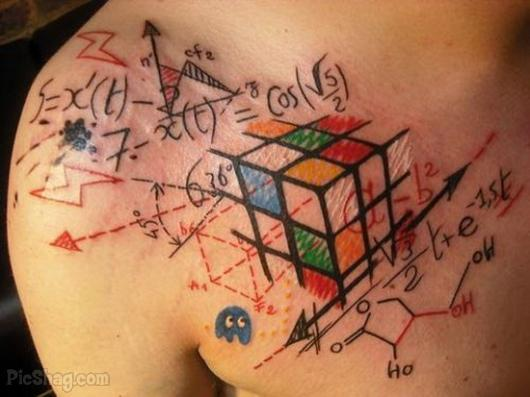 Sweet Geek Tattoo On Chest For Boys