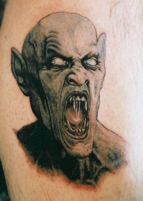 Sweet Screaming Horror Demon Tattoo Design For Boys