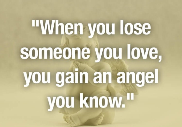Sympathy Quotes when you lose someone you love, you gain an angel you know.