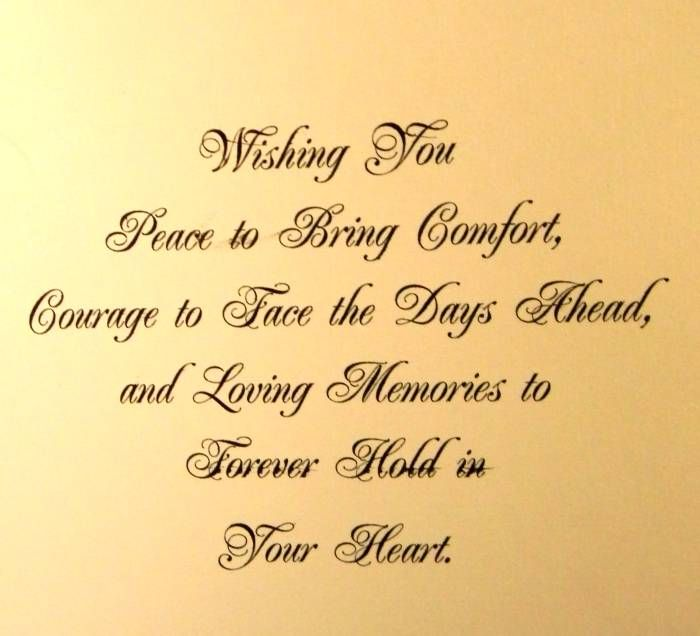 Sympathy Quotes wishing you face to bring comfort, dour age to face the days ahead...