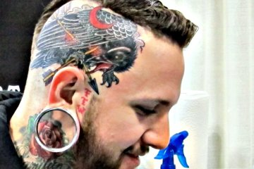 TErrific Eagle Tattoo On Head For Boys