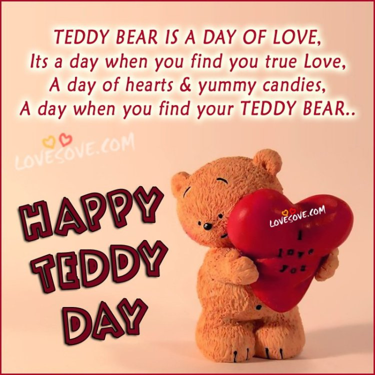 Teddy Day Message I Love You Image