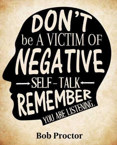 Teen Quotes don't be a victim of negative self talk