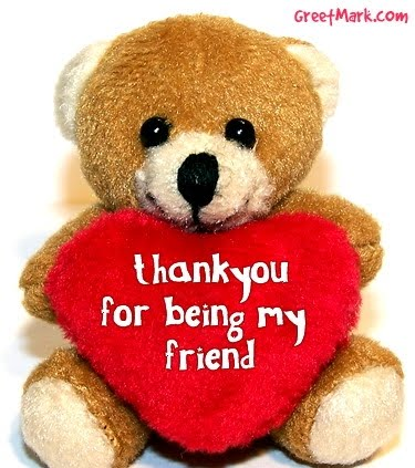 Thank You For Being My Friend Greetings Card Image