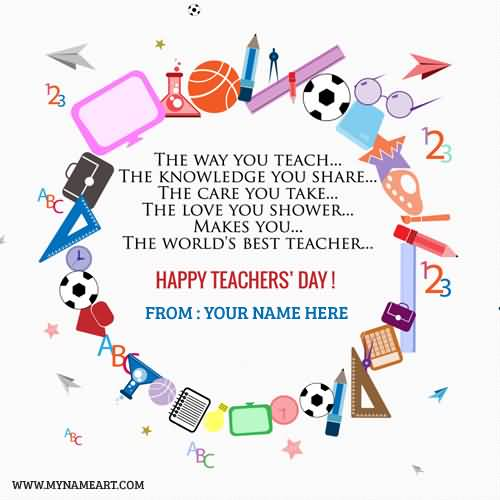 The Love You Shower Makes You The World's Best Teacher Happy Teacher's Day