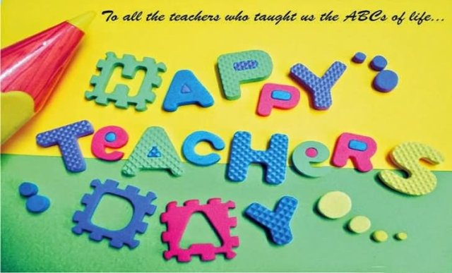 To All Teachers Happy World Teacher's Day Wishes Image
