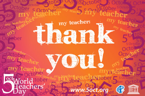 To My Best Teacher Happy World Teacher's Day Wishes Message Image