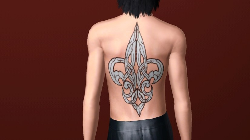 Traditional Big Fleur De Lis Tattoo For Your Back For Boys And Girls