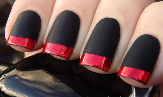 402 In 50 Incredible Black Matte Nail Art Designs