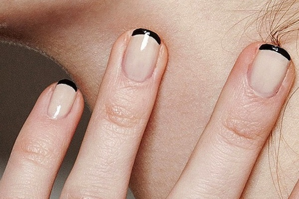 Tremendous Black French Tip Nails With Naked Nails