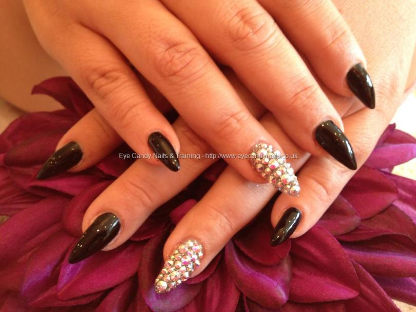 Tremendous Stiletto Nails With 3D Crystal