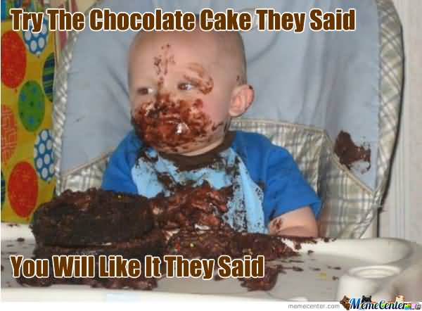 Try The Chocolate Cake They Said You Will Like It They Said Meme Photo