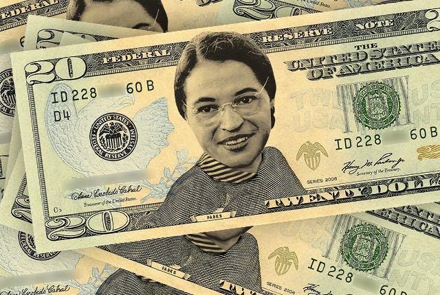 Twenty Dollars Rosa Parks Image