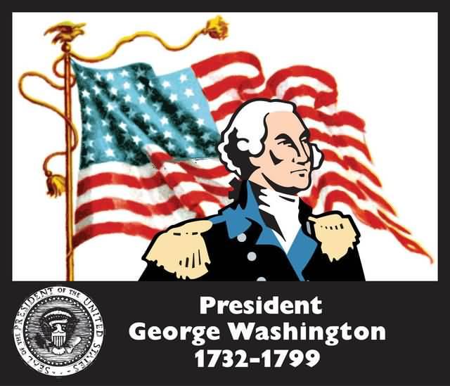 USA 1st President Sir George Washington Birthday Wishes Image
