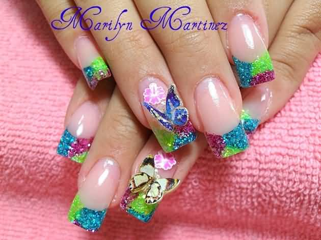 Ultimate Crystal Color 3D Butterflies Nail Art
