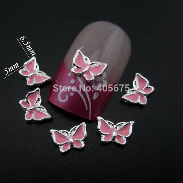 Ultimate Design Butterfly With Pink color 3D Butterflies Nail Art