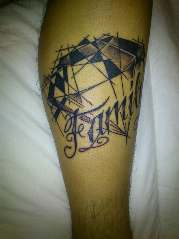 Ultimate Family Diamond Tattoo Design For Boys