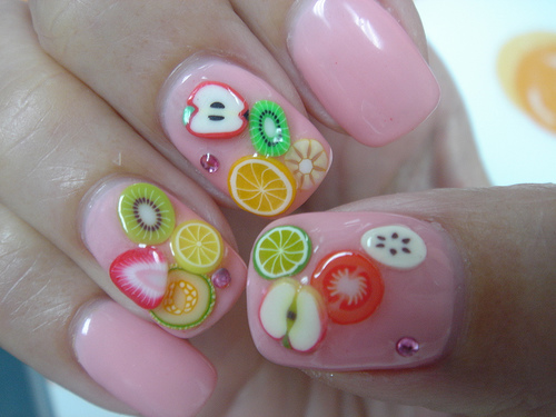 Very Nice Fruit Nail Art 3D Nail Art