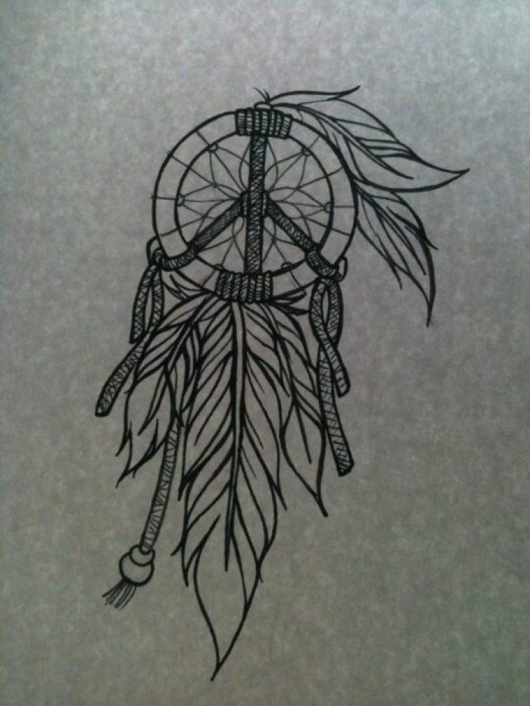 Weird Again Dream Catcher Tattoo For Girls
