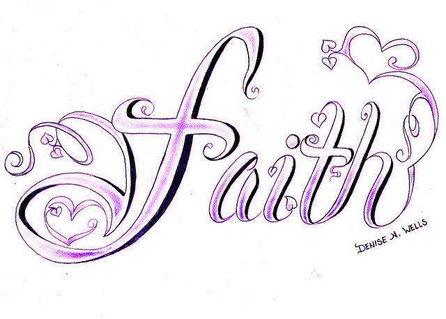 Weird Faith Tattoo Design For Girls