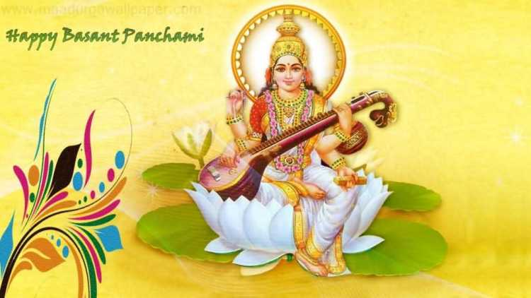 Wish You A Very Happy Vasant Panchami Greeting Picture