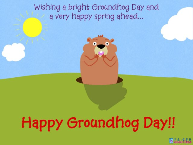 Wishing A Bright Groundhog Day Wishes Image