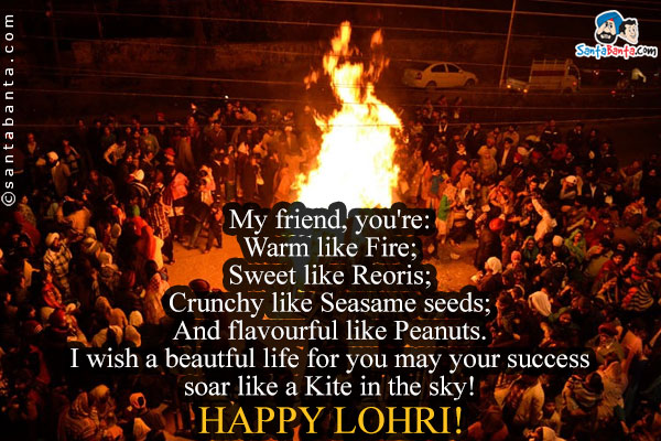 Wishing You Happy Lohri Greetings For Friends