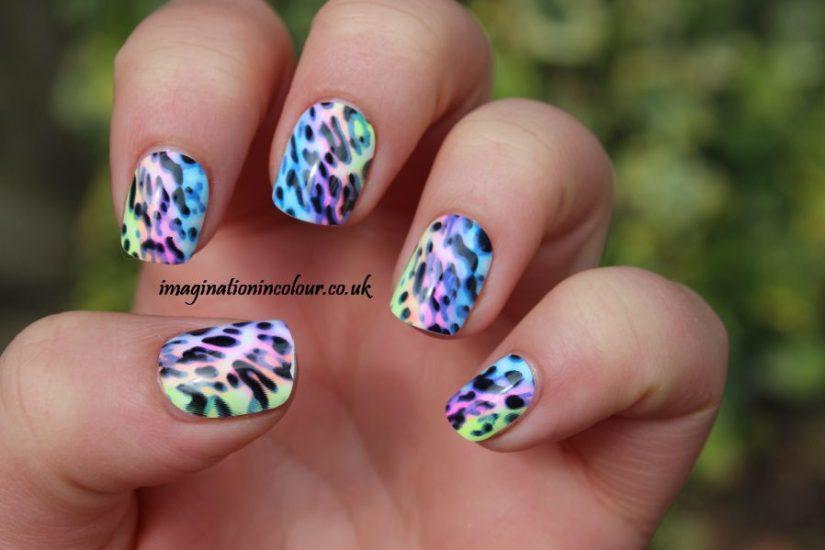 Wonderful Mixed Color Acrylic Short Nail Design
