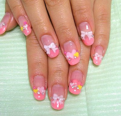 54 tremendous 3d nails art designs styles ideas picsmine wonderful ribbon art with pink color 3d nail art prinsesfo Gallery