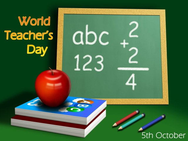World Teacher's Day Kid Wishes Image