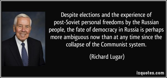 experience sayings despite elections and the experience of post soviet personal freedoms by the Russian people the fate of democracy in Russia is perhaps