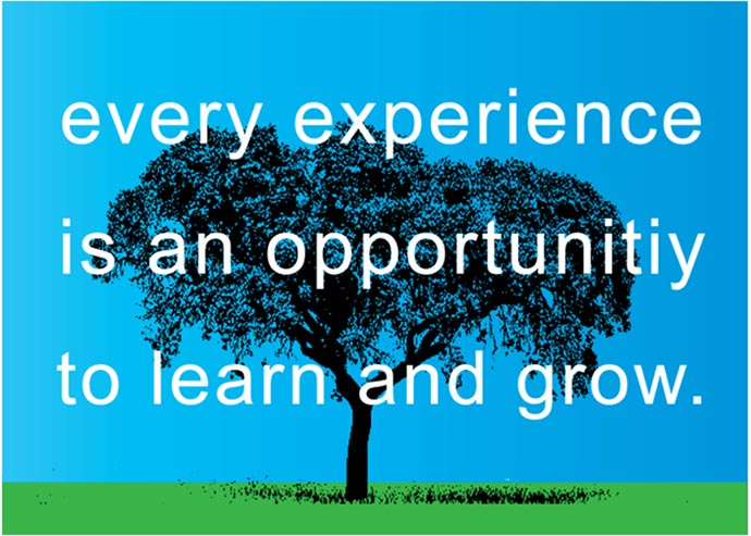experience sayings every experience is an opportunity to learn and grow